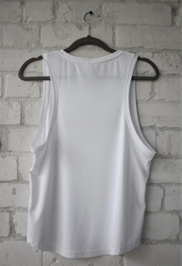 Women's White Loose Fit Vest Back